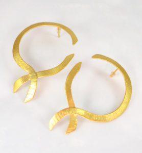 Χειροποίητα σκουλαρίκια ribbons
