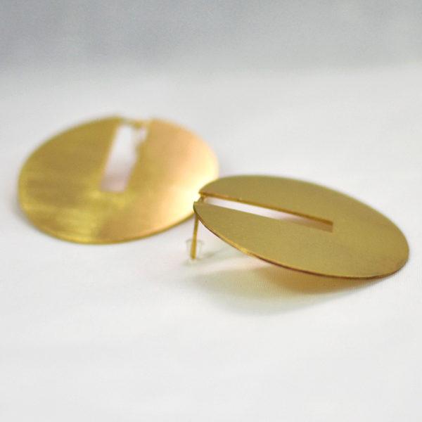 Χειροποίητα σκουλαρίκια discy χρυσά