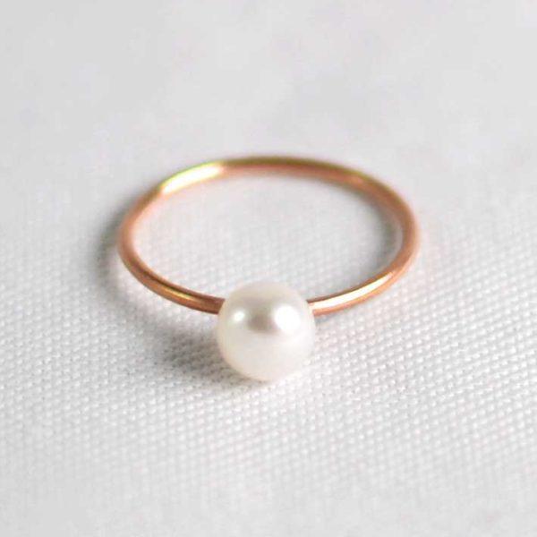 Χειροποίητο βεράκι pearly ροζ χρυσό