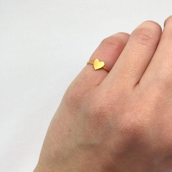 Χειροποίητο βεράκι καρδιά χρυσό