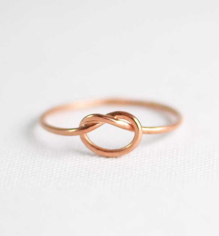 Χειροποίητo βεράκι knot ροζ χρυσό