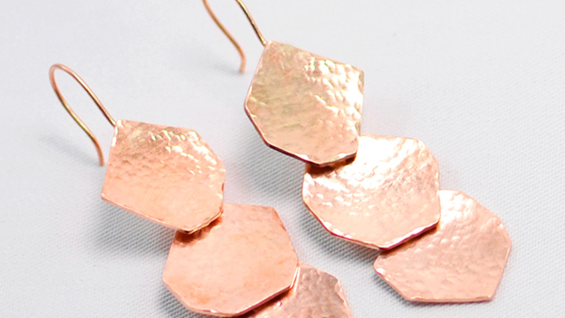 κρεμαστά μεταλλικά σκουλαρίκια σφυρήλατα