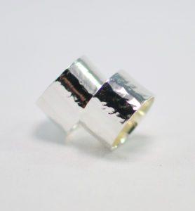 Χειροποίητο ασημένιο σφυρήλατο δαχτυλίδι eliza