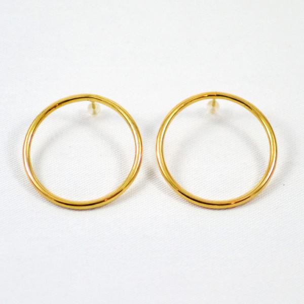 Χειροποίητα σκουλαρίκια κρίκοι χρυσοί Olivia