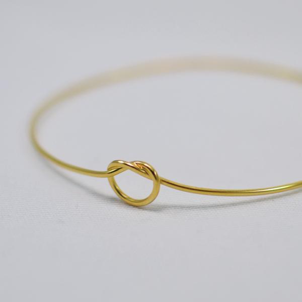 Χειροποίητο βραχιόλι bangle knot χρυσό