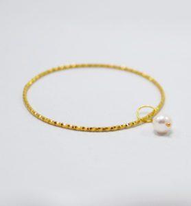 Χειροποίητο βραχιόλι bangle monna χρυσό
