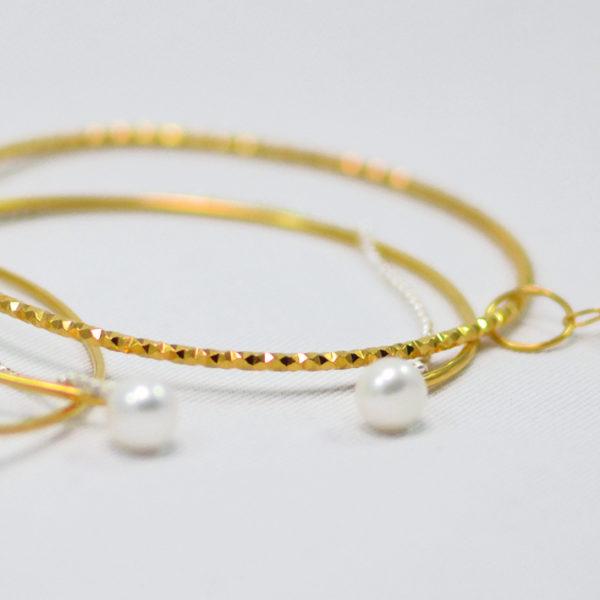 Χειροποίητα βραχιόλια bangles purity χρυσά