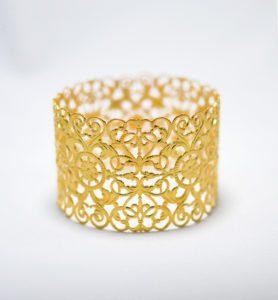 Χειροποίητο βραχιόλι cuff eveline χρυσό