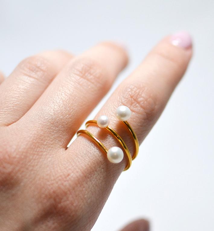 Χειροποίητο ασημένιο δαχτυλίδι truffle