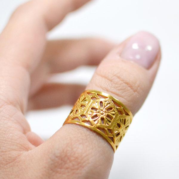 Χειροποίητο δαχτυλίδι nomad χρυσό