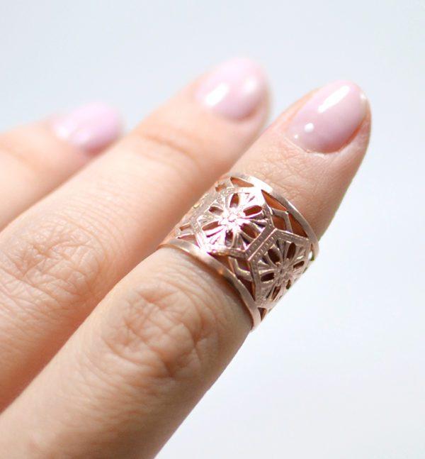 Χειροποίητο δαχτυλίδι nomad ροζ χρυσό