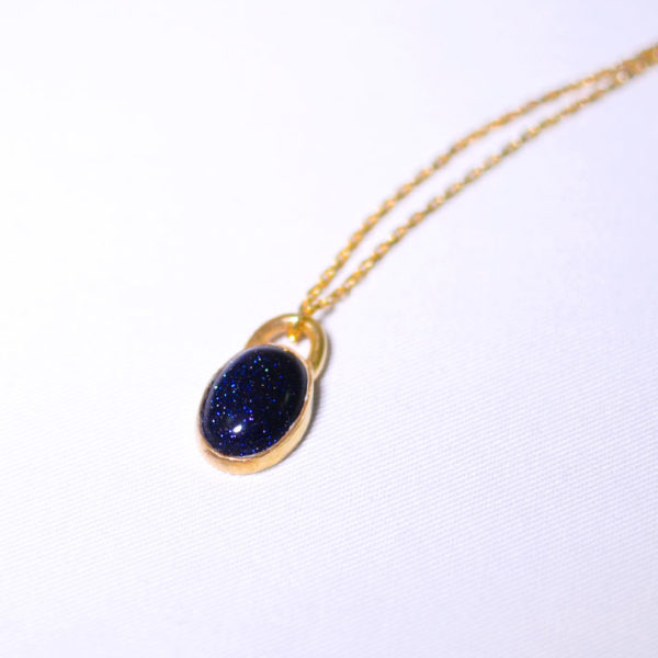 Χειροποίητο κολιέ με μπλε πέτρα χρυσόλιθου Eleanor
