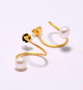 Χειροποίητα σκουλαρίκια Τwist χρυσά
