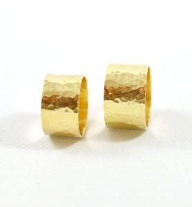 Χειροποίητο χρυσό σφυρήλατο δαχτυλίδι Εliza