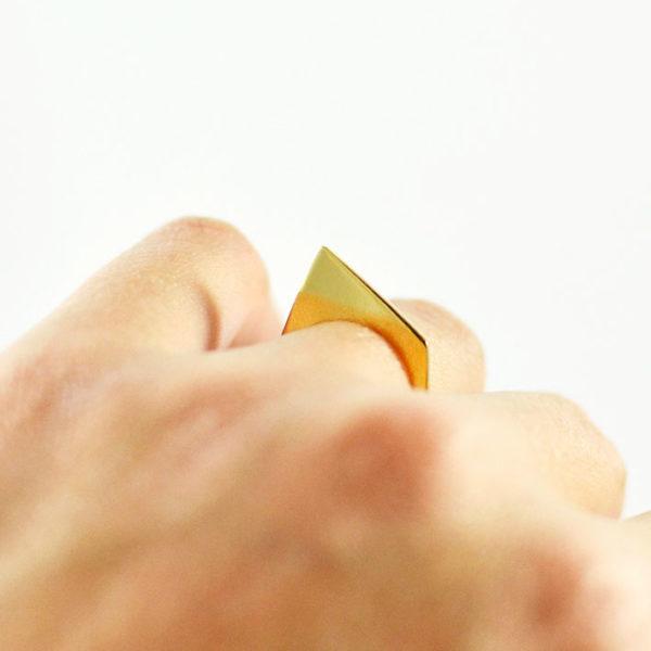 Χειροποίητο χρυσό γεωμετρικό δαχτυλίδι Sue Me