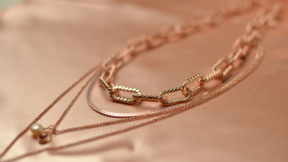 rose gold layering necklaces
