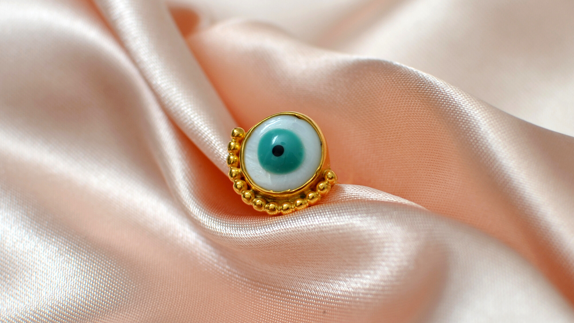 Gea Creations evil eye ring