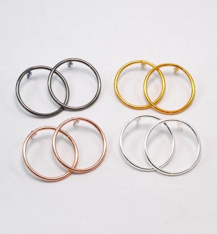 plain medium hoops