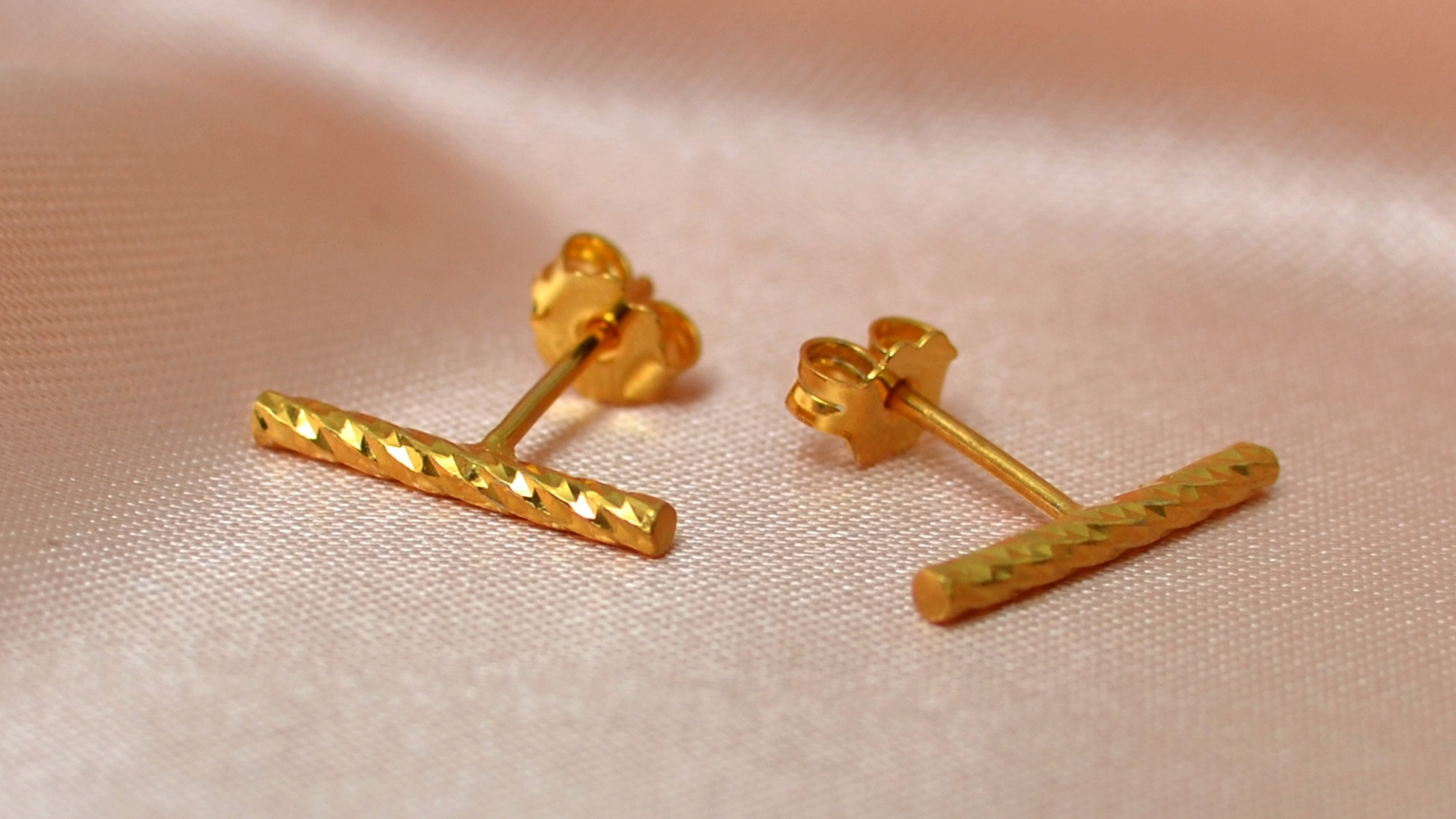 gold bar studs gea creations